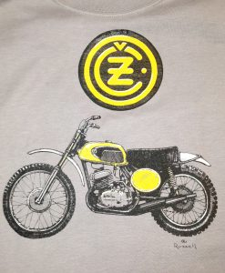 1972 CZ Motorcycle t-shirt