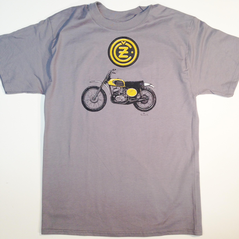 1972 CZ Motorcycle t-shirt