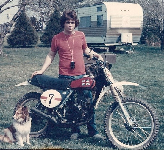 author's first motorcycle