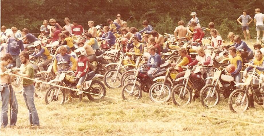 1970s vintage motocross start