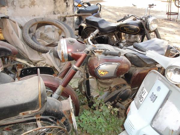 junkyard motorcycle