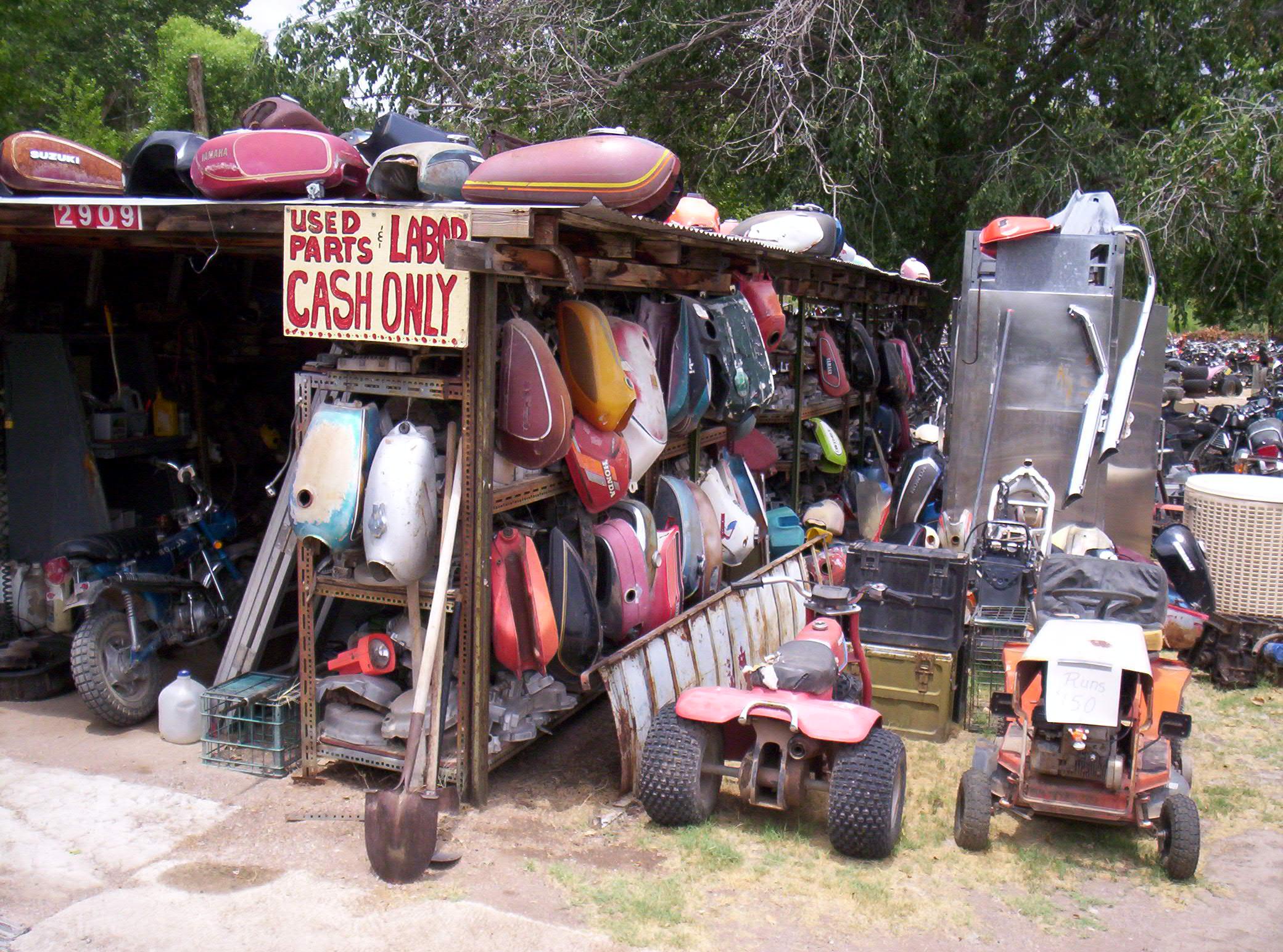 Old motorcycle junkyard