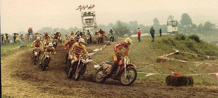 1970s vintage motorcycle race