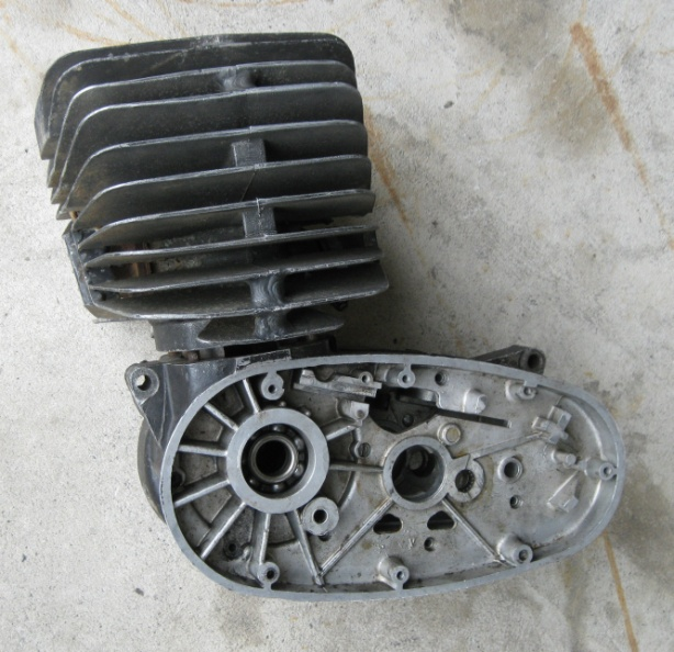 Discarded Maico Racing Engine