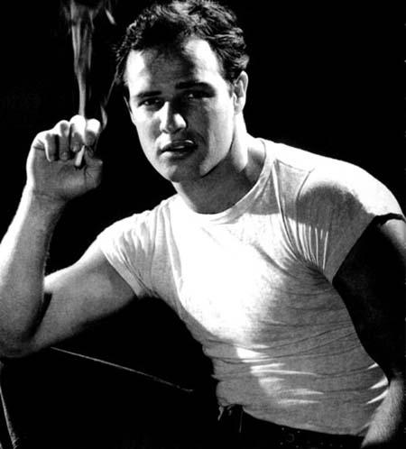 Marlon Brando in T-shirt