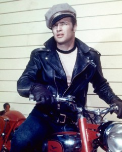 Marlon Brando on Motorcycle