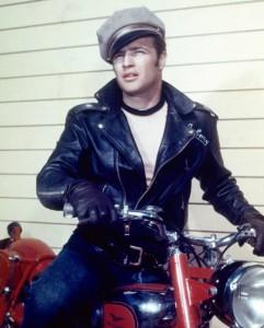 Marlon Brando on Motorcycle