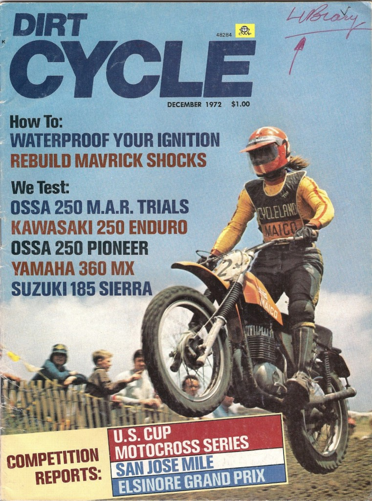 Tim Hart on the cover of Dirt Cycle, December, 1972