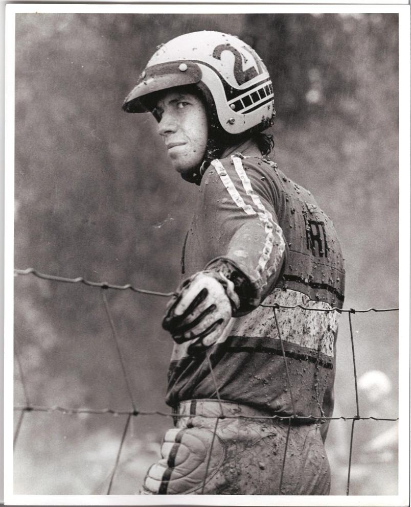Tim Hart riding for Yamaha, 1973