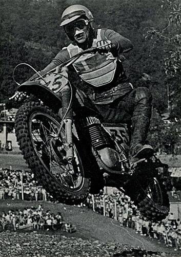 Ake Jonsson riding a Maico