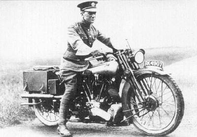 T.E Lawrence on his Superior Motorcycle