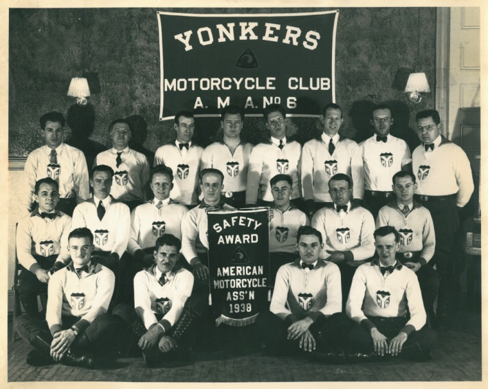 Yonkers, New York Motorcycle Club, 1938. (Courtesy the American Motorcyclist Association)