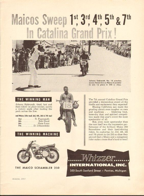 early Maico dirt bike racing ad