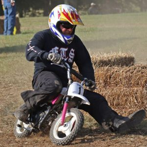 A mini bike racing event at VMD