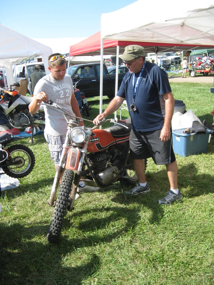 Shopping for bikes at Vintage Motorcycle Days