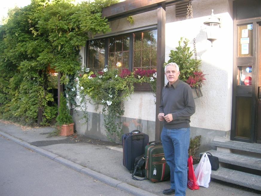 Jonsson in front of the Hotel Lamm, Pfeffingen, Germany, 2007