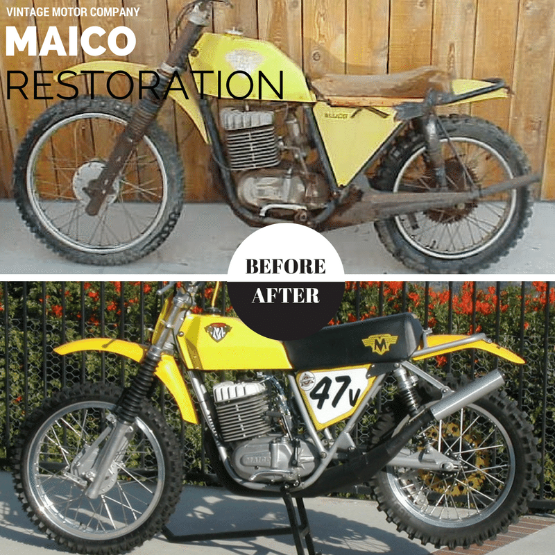 Maico restoration before and after