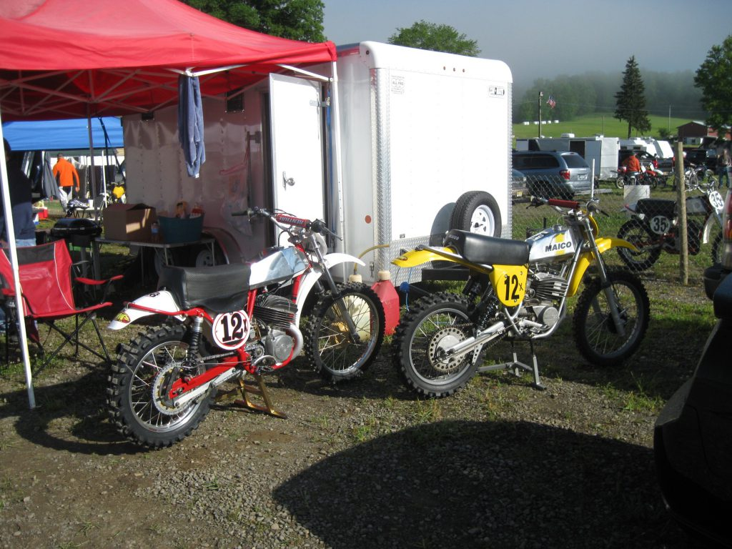 A CZ and Maico restored for racing.