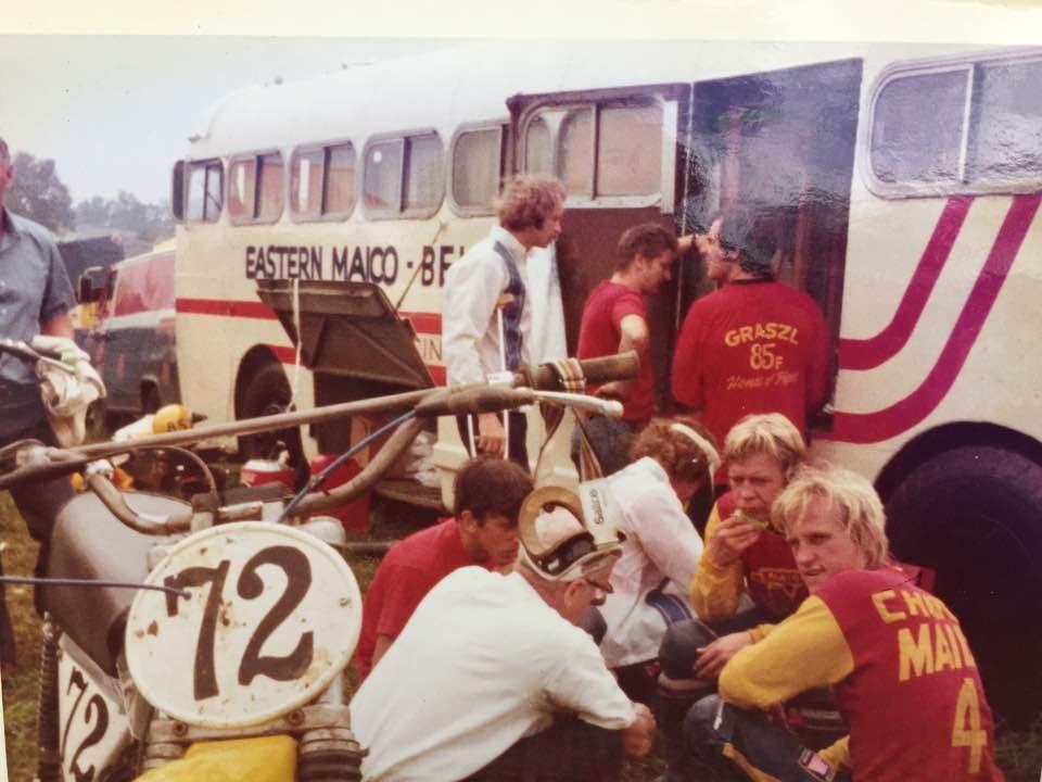 Dennie Moore Eastern Maico team bus