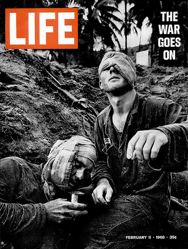 "LIFE magazine, 1966. ""The War Goes On""."