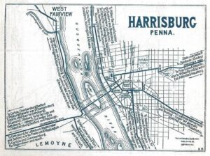 early map harrisburg pa