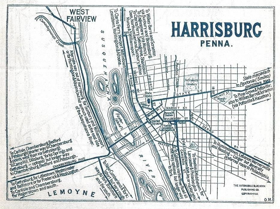 early map harrisburg pa